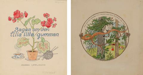 Nationalmuseum förvärvar illustrationer till Elsa Beskows Sagan om den lilla lilla gumman