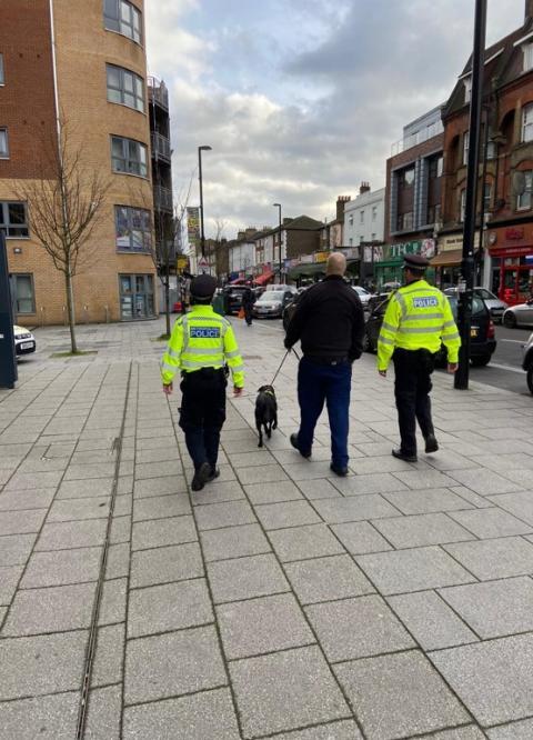 Patrol with dog