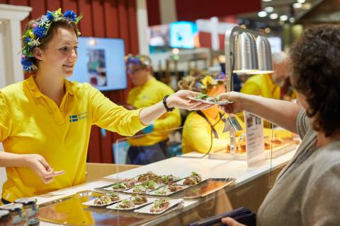 Försäljning av mat Grüne Woche 2019