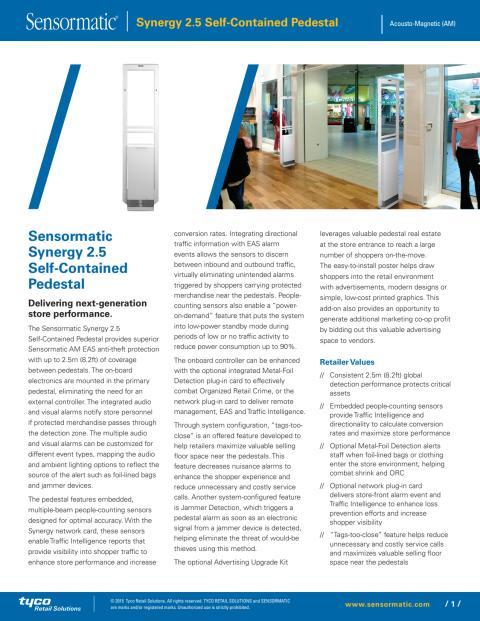 Larmbågar från Gate Security - Sensormatic Synergy Self-Contained