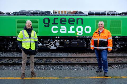 Godsdirektör på Bane NOR, Oskar Stenstrøm & Bengt Fors VD Green Cargo Norge MBR-201209-00531