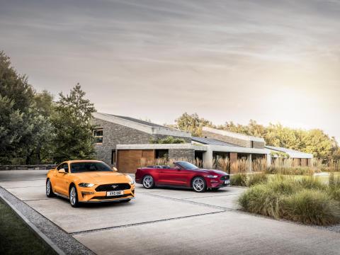 Den nye Ford Mustang – et ikon med skarpere design og endnu skarpere dynamik