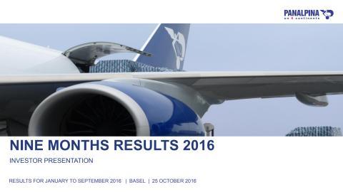 NIne Months Results 2016 – Investor Presentation