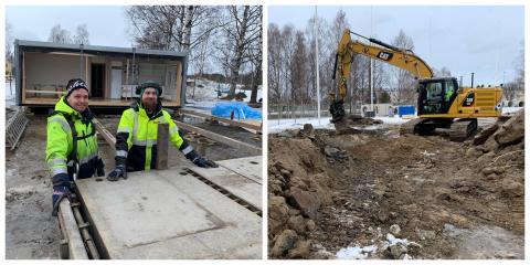 Spaden i marken för ThorenGruppen på Noliaområdet - del två i hallsatsningen i gång