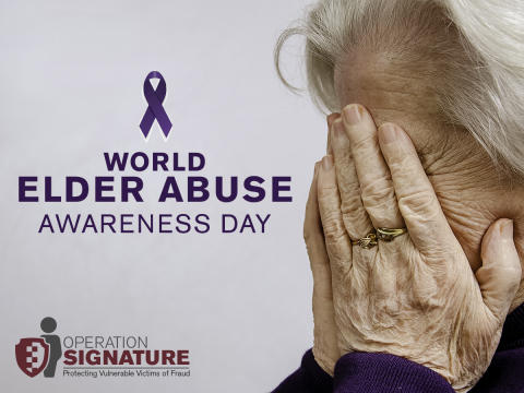 Remember your elderly friends and relatives on World Elder Abuse Awareness Day