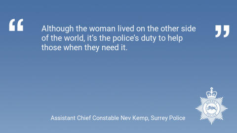 Surrey Police help woman in distress in Canada on Christmas morning
