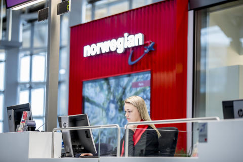 Norwegian's new service desk at Oslo airport
