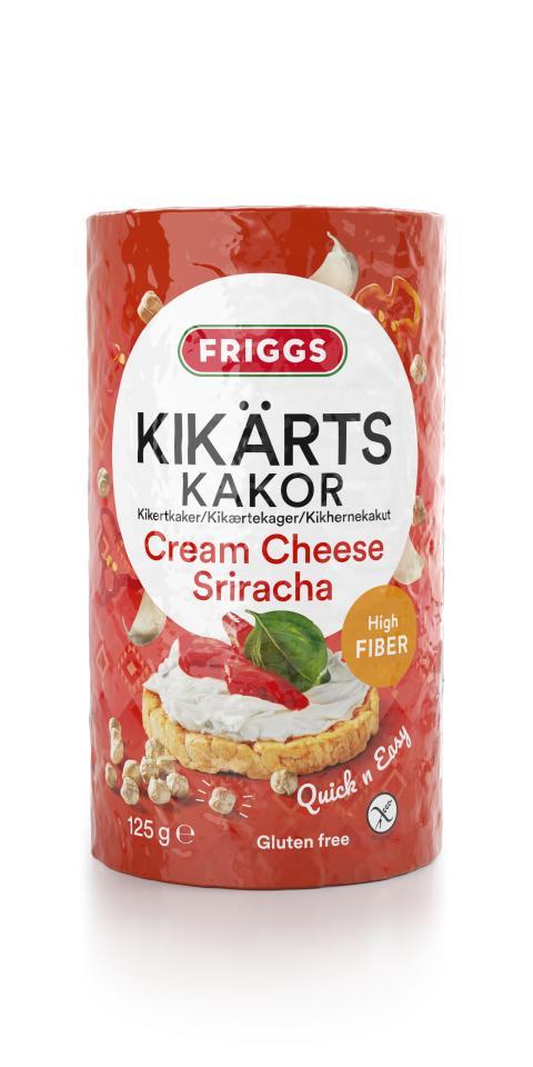 Friggs Kikertkaker Cream Cheese Sriracha produktbilde