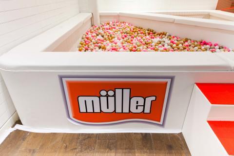 Ball pit at the Müller Corner Shop
