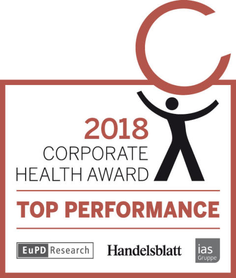 Corporate Health Award 2018 TOP PERFORMANCE