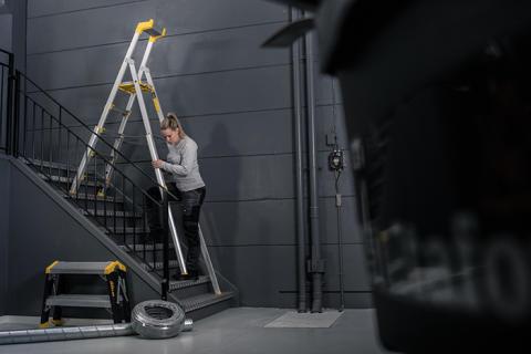 Wibe Ladders lanserer Profftrapp 55S - perfekt for arbeid i trapper