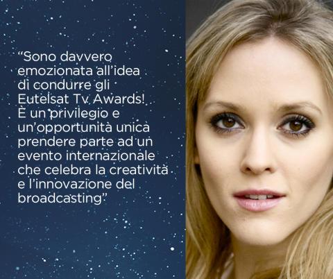 #EutelsatTvAwards - Clemency Burton Hill condurrà gli Eutelsat TV Awards 2015!