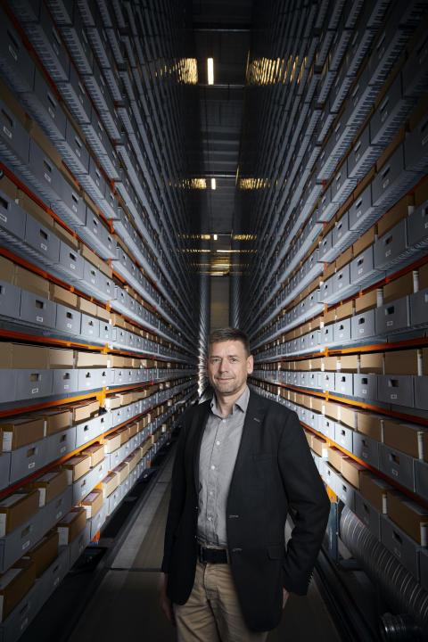Områdeleder digital bevaring og oparbejdning, Rigsarkivet. Jan Dalsten Sørensen