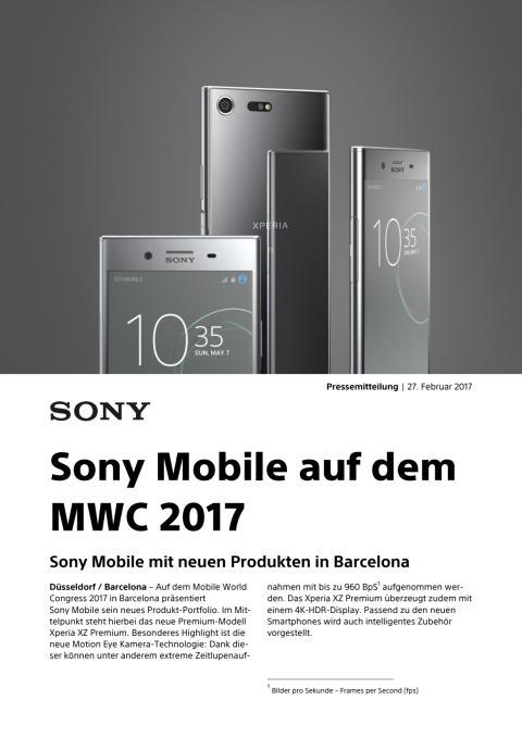 Sony Mobile auf dem MWC 2017