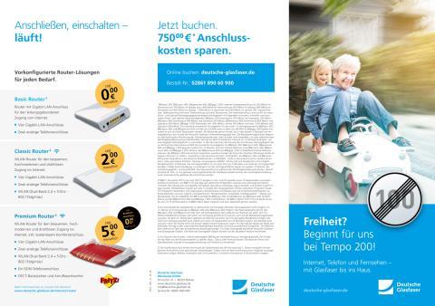 Übersicht: Produkte Deutsche Glasfaser