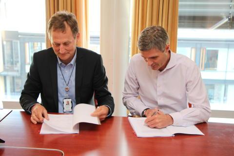 Signering av Cognite-kontrakt