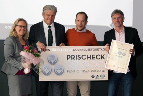 Årets Hållbaraste Golvkedjeföretag är BL Interiör i Umeå