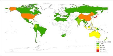 NGI la fram første kart over global tsunamirisiko på FN-konferanse