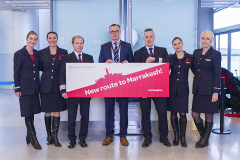 Premiär för Norwegians första direktlinje mellan Helsingfors och Marrakech