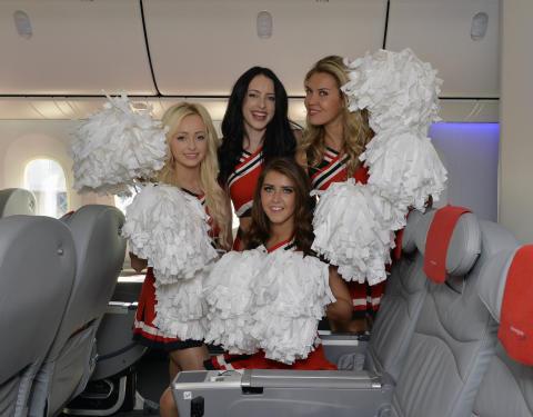 Celebrating first flight Gatwick