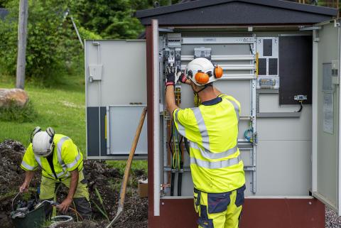 Mälarenergi förnyar elnätet i Arboga