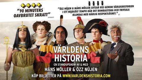 Högt publiktryck på Världens Historia med Özz & Måns - gör extra föreställning i Stockholm!