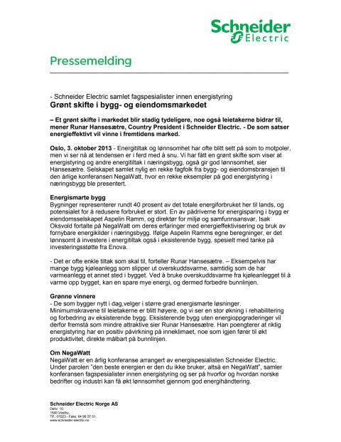 Grønt skifte i bygg- og eiendomsmarkedet