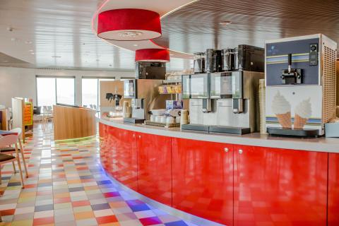 Restaurant på Scandlines' nye hybridfærge M/F Berlin