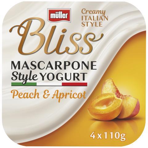 Müller Bliss Mascarpone Style Yogurt Peach & Apricot