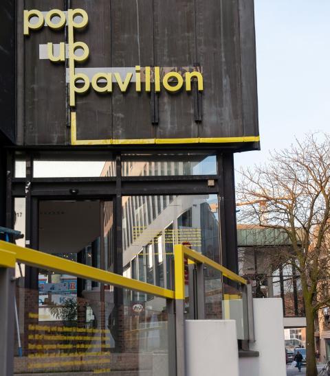 Kieler Pop-up Pavillon bietet prominente Bühne für kreative Künstler