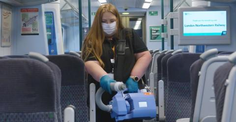 Video: Antiviral fogging machines in action on London Northwestern Railway