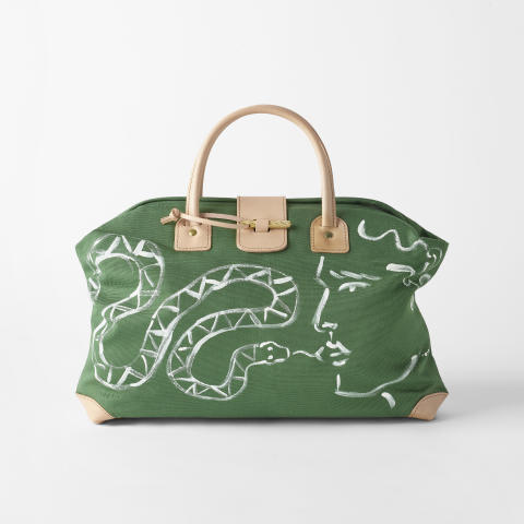 Svenskt_Tenn_Bag_Endymion_Hand_Painted_Green_Small_Snake_1