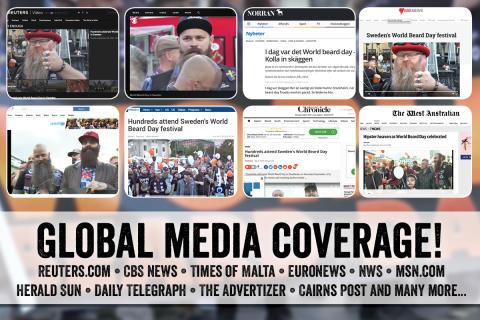 Beardshops World Beard Day firande uppmärksammas i internationella medier!