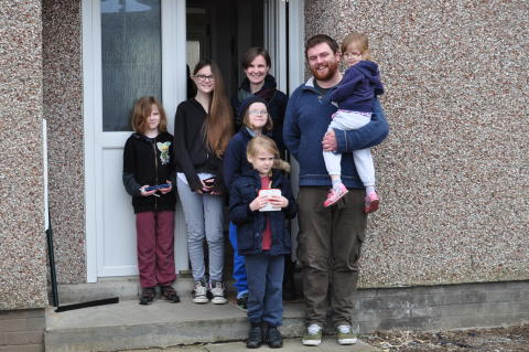 Moray familymove in having been one of the first to apply for, be offered and accept a council property online.