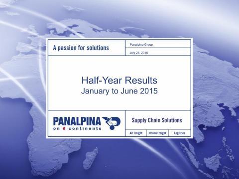 Half-Year Results 2015 – Investor Presentation