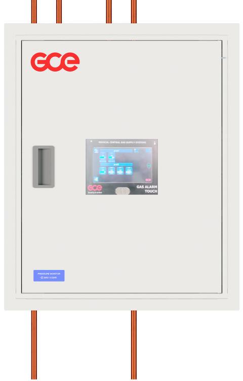 Tryckövervakare med GCE Touch alarm