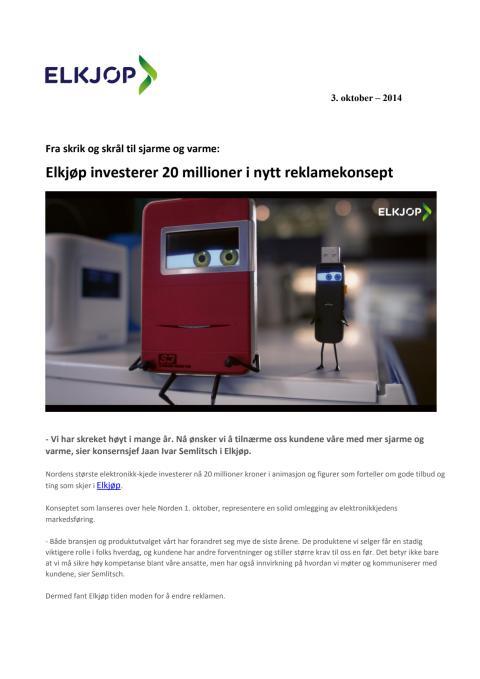 Investerer 20 millioner i nytt reklamekonsept