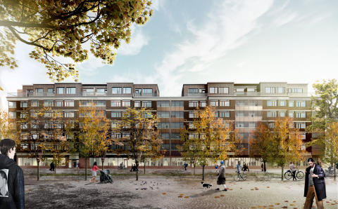 Kvarteret Sverre - 32 hyresrätter blir 142!
