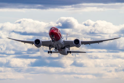 Norwegian booster Los Angeles-rute fra København