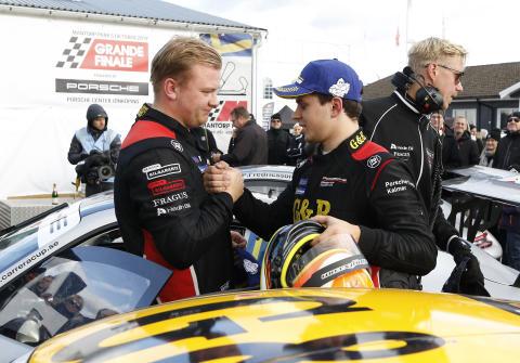 Respekt mellan rivalerna. – Han är riktigt tuff att köra mot, säger Lukas Sundahl om huvudkonkurrenten Robin Hansson. Han är så snabb! Vi har fått ta ett kliv till för att hänga med. Men det har vi lyckats med!