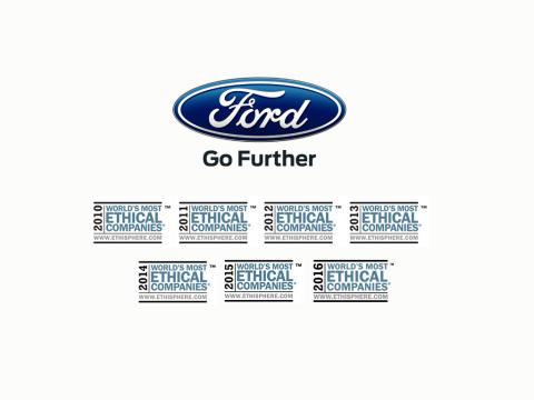 Ford utnämnda till etiskt företag 7 år i rad