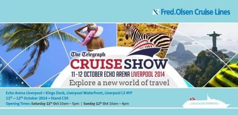 'Bringing the world closer to you' with Fred. at the 'Telegraph Cruise Show Liverpool 2014' – Stand C30, Echo Arena, Saturday 11th / Sunday 12th October 2014