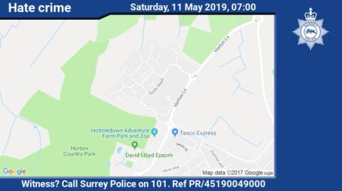 Appeal for witnesses following racially aggravated incident in Epsom