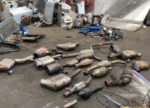 Police operation to stop thefts of catalytic converters