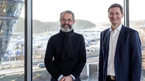 Stein Folden Bakken (t.v.) og Vidar Evensen gleder seg til å samarbeide tett i tiden fremover.