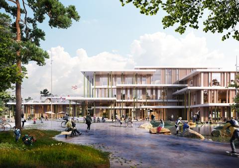 Ny bæredygtig træskole i Viborg