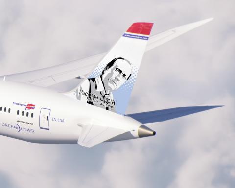 Boeing 787 Dreamliner Paco de Lucía - renderización (detalle).