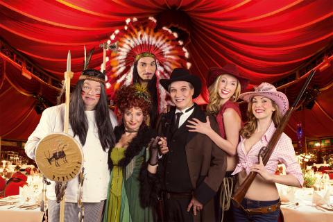 Varieté Dinnershow GANS GANZ ANDERS lädt zur Wild-West Show