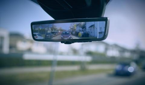 Digitalt bakspejl fra Ford
