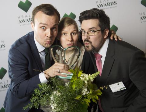 Health Awards & Foresight Forum 2016 tilaisuudessa Helsingin Pörssitalossa palkittiin tänään Vuoden Terveysteko ja Vuoden Terveysinnovaatio